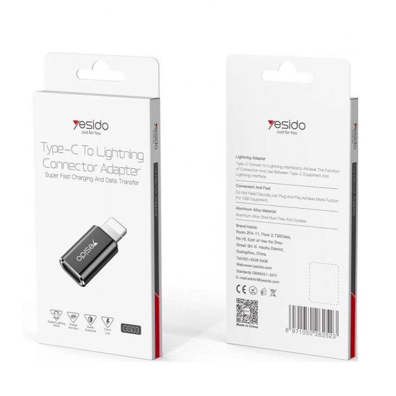 مبدل USB-C به لایتنینگ یسیدو مدل GS03